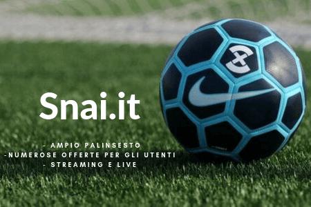 Bonus SNAI: premio di benvenuto per le scommesse sportive